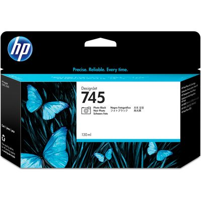 HP 745 Noir Photo 130 ml