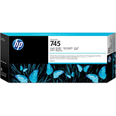 HP 745 Noir Photo 300 ml