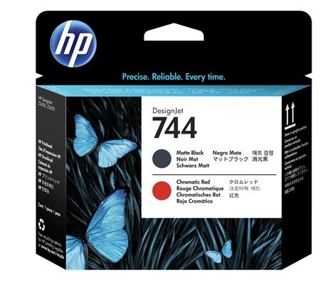 Tete HP 744 Noir Mat - Rouge