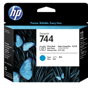 Tete HP 744 Noir Photo - Cyan