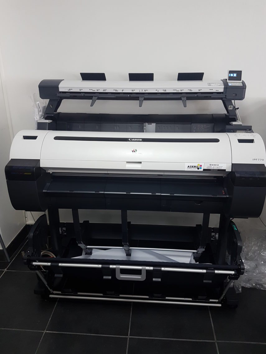 Installation traceur CANON IPF 770 + scanner