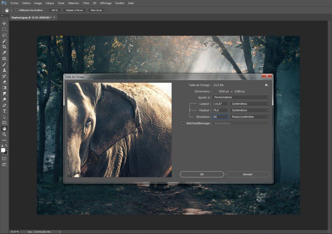 Photoshop-résolution
