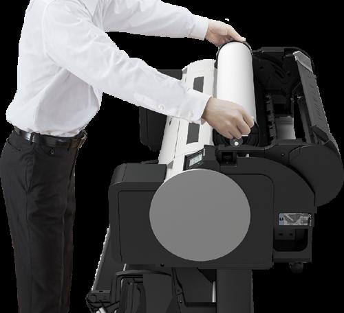 Chargement du rouleau TM-300